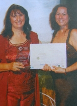 receiving                                                           nature tourism                                                           award