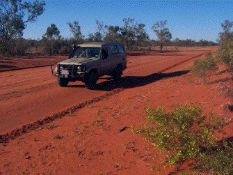 troopie in outback